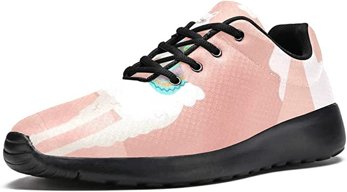 TIZORAX Zapatillas de running para hombre, alpaca, llama y cactus detrás de la montaña, de malla transpirable para caminar, senderismo, tenis, color Multicolor, talla 42 2/3 EU: Amazon.es: Zapatos y complementos