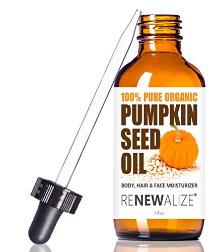 Nighttime Heel Treatment Cream (ORGANIC PUMPKIN SEED OIL MOISTURIZER - grown in USA - 4 oz. Dark Glass Bottle | Best Quality, Unrefined, Cold Pressed hydrating oils for hair, skin and nails | All Natural Nail Growth Treatment)
