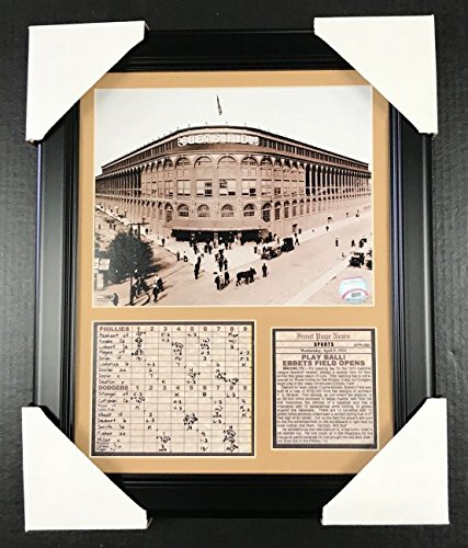 Field Framed Photomint - 11x14 Framed & Matted Ebbets Field Opening Day 1913 Brooklyn Dodgers 8X10 PHOTO