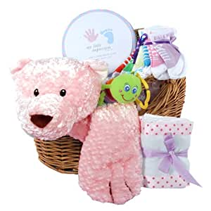 Amazon.com : Comfy Cozy Baby Wrap with Animal Head Pillow Gift Basket