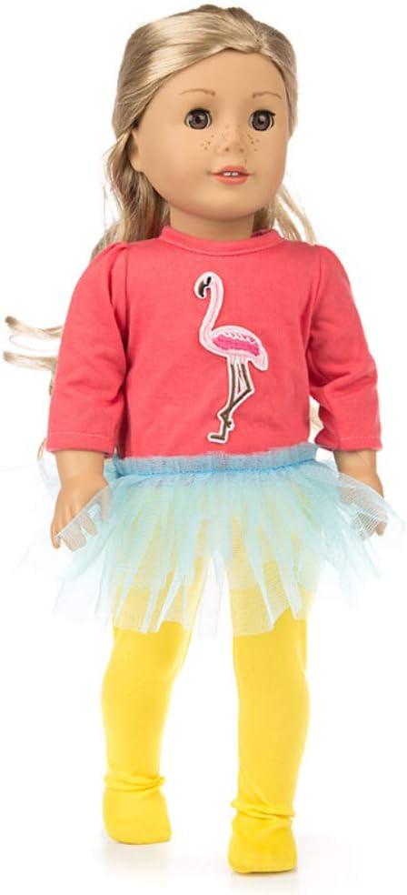 Amyove Ropa de muñeca diseño Mini Avestruz Ropa Disfraz Tops + ...
