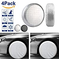 "VIEFIN Set of 4 Wheel Tire Covers, Waterproof UV Sun Tire Protectors for RV, Trailer, Fit 27"" to 32"" Tire Diameter of Truck, Jeep, Camper, Van, Auto Car"