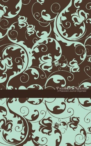 Price comparison product image Password Keeper: A Password Journal Organizer (blue & brown floral)