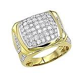 Statement Jewelry: 10k Gold Mens Diamond Ring 3 Carat Pinky Band 3ctw (Yellow Gold, Size 9.5)