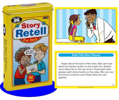 Super Duper Publications Story Retell Fun Deck Flash Cards Early Reader Educational Learning Resource for Children by Super Duper Publications
