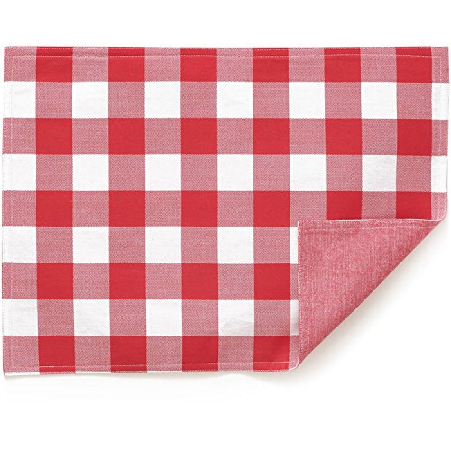 The Pioneer Woman Charming Check Reversible Place Mats, Red