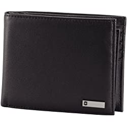 Victorinox Men's Altius 3.0 Amsterdam Leather Bi-Fold Wallet with Passcase, Black, One Size