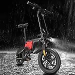 YANGMAN-L-Elettrica-Pieghevole-Bici-36V-250W-Motore-104Ah-Batteria-elettrica-Commuter-Ebike-Bicicletta-con-Pneumatici-da-12-PolliciBianca