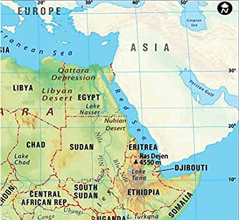 Amazoncom Africa Map 36 W x 3323 H Office Products