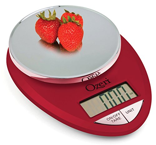 Ozeri ZK12-R Pro Digital Kitchen Food Scale 1g/12 lb Red Eng