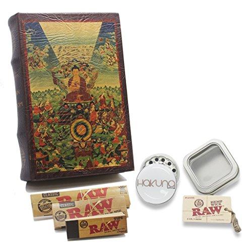 Leather Buddha Book Box Bundle - Stash Box, Storage Box, Secret Box