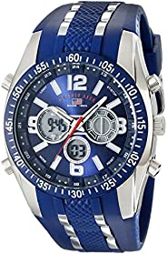 U.S. Polo Assn. Sport Men's US9284 Blue and Silver-Tone Analog/Digital Chronograph W