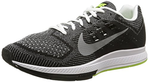 Nike Air Zoom Structure 18, Zapatillas de Running para Hombre Blanco (white/metallic silver-black-volt)
