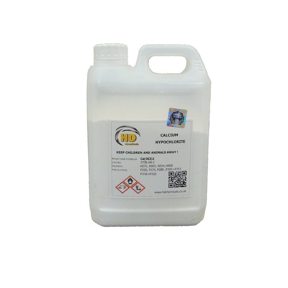 Calcium Hypochlorite powder • swimming pool shock, bleaching • disinfectant (5g sample, 1) HD Chemicals