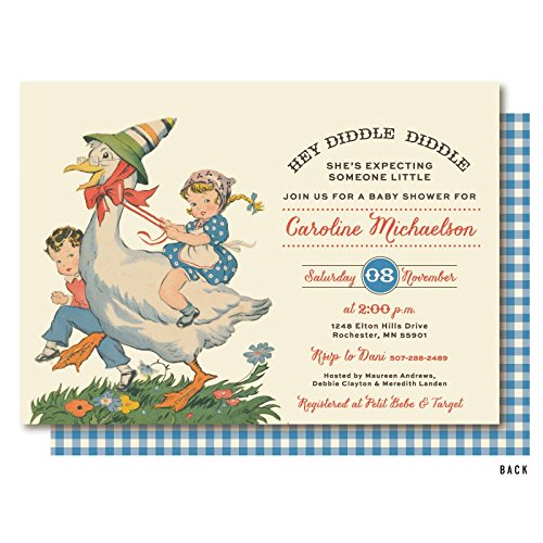 Image Unavailable Not Available For Color Mother Goose Nursery Rhyme Birthday Party Invitations