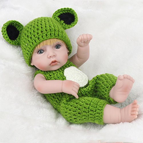 453b2627eebc3 Samber Handmade Soft Silicone Newborn Dolls Lifelike Reborn Baby ...