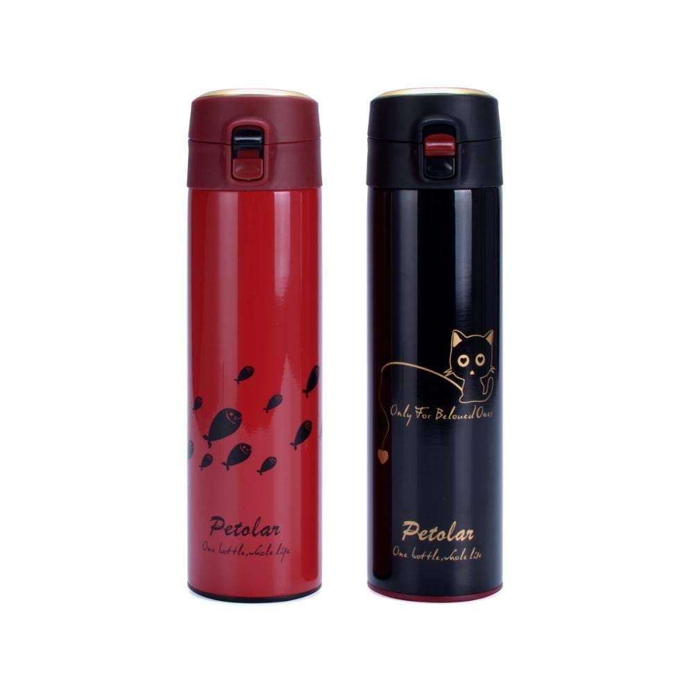 ChuangYing Mode Paar Tasse Edelstahl Tassen Kreatives Geschenk Wasserflasche
