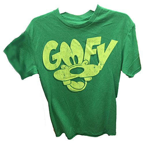 Disney Goofy Face Unisex Adult Fashion Top T Shirt- XL (Adult Disney Characters)