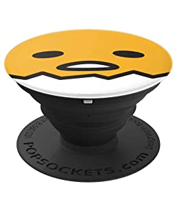 Gudetama Lazy Egg Open Face PopSockets Stand for Smartphones and Tablets PopSockets Grip and Stand for Phones and Tablets