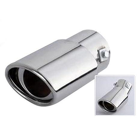 Boomboost 1pc plata nuevo cromo tubo de escape de acero ...