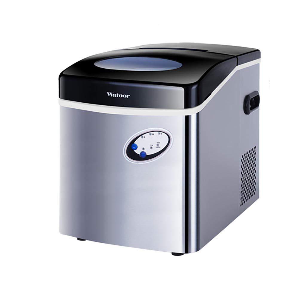 製氷機ポータブルデスクトップ製氷機、6分高速製氷サイレントデザイン、インテリジェントLCDディスプレイ制御、家庭用、コーヒーショップ、冷たい飲み物屋、銀   B07RTKNC1Z