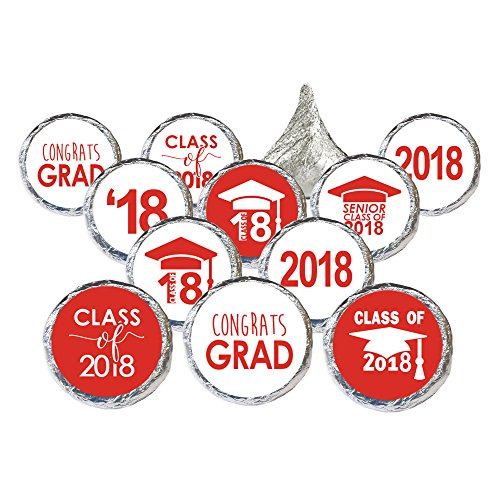 Class of 2018 Graduation Party Favor Stickers, Set of 324 (Graduation Envelope Seals)