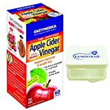 Enzymedica - Apple Cider Vinegar, Natural Support for Digestion and Healthy Weight Balance with the Mother Preserved in Each Serving, Non-GMO, Vegan, 60 Capsules Bundle with Lumintrail Pill Case