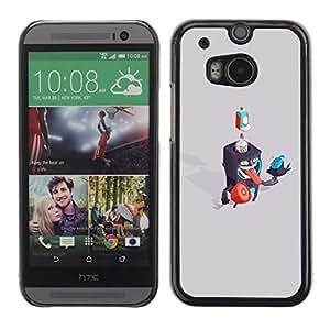 EJOY---Cubierta de la caja de protección la piel dura para el ** HTC One M8 ** --Criaturas Abstract