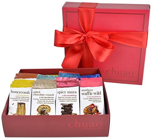 Chocolate Gift Set - Chuao Chocolatier Share the Love 36 Piece Gift Set (.39 oz mini bars) - Best-Selling Variety Pack - Gourmet Artisan Milk and Dark Chocolate Assortment - Free of Artificial Flavors