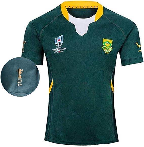 TT377 Sports Equipo Sudáfrica, Nuevas Camisetas En Noviembre De 2019 Camiseta De Rugby Local De Sudáfrica, Copa Mundial De Rugby 2019, 1995.2007.2019,Springboks,Copa Mundial,Rugby Jersey: Amazon.es: Deportes y aire libre