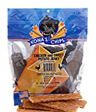KONA'S CHIPS Chicken and Sweet Potato Jerky; Dog Treats Made In USA ONLY – 100% USDA Chicken, Grain FREE. Natural, Healthy & Safe Treats for Your Dog 1 lb Bag