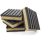 "4 Pack of Anti Vibration Pads 3"" x 3"" x 7/8"" Rubber/Cork Vibration isolation pads"