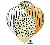 Qualatex Safari Zebra Leopard Cheetah Jungle Animal Zoo Party 11' Balloon Set (12) Latex