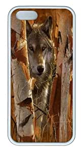 The Guardian Wolf TPU Case Cover for iPhone 5 and iPhone 5s White by mcsharks