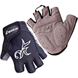 Fingerless Bike Glove Gel Padded TB Half Finger Cycling Gloves Breathable Shock-absorbing Mountain