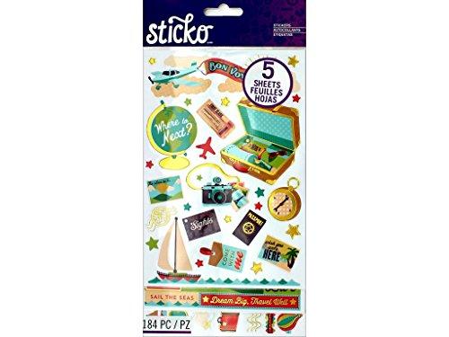 EK Success EK Sticker Flip Pack Bon Voyage Sticko ()