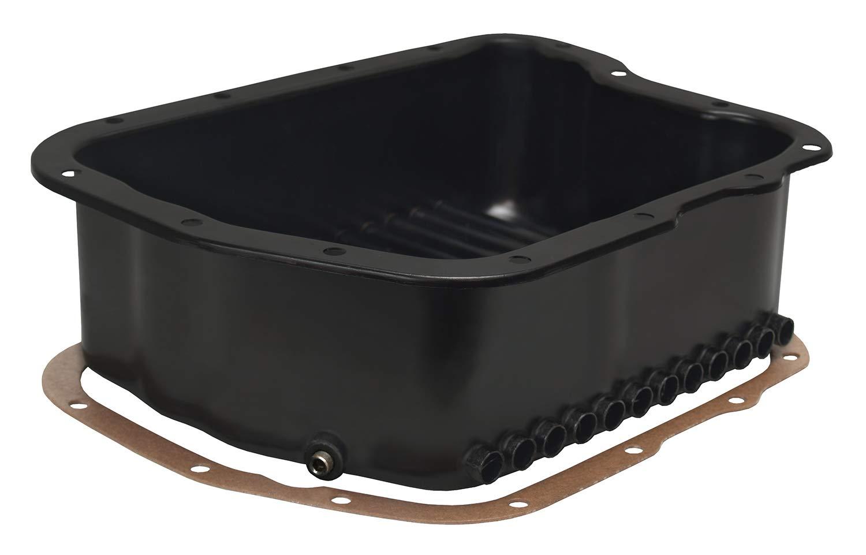 Derale 14210 Transmission Cooling Pan for Dodge A518 (46RH, 46RE) / A618 (47RH, 47RE, 48RE), Black