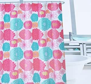 Amazon Com Cynthia Rowley New York Funky Floral Fabric Shower Curtain Home Amp Kitchen