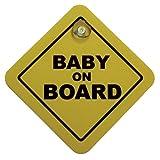AutoStyle 1/07030 Auto-Sticker / Auto-Aufkleber Baby On Board, 16 x 16 cm, Gelb