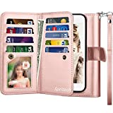 Spritech LG Stylo 4 Wallet Case,LG Stylo 4 Plus PU Leather Case, Luxury Cash Credit Card Slots Holder Carrying Flip Cover [Detachable Magnetic Hard Case] For LG Stylo 4