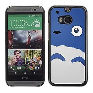 Shell-Star Arte & diseño plástico duro Fundas Cover Cubre Hard Case Cover para HTC One M8 ( Happy Cute Monster Blue Sheep Eye )