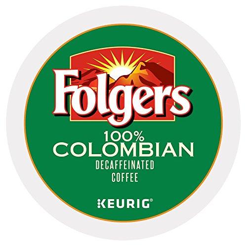 Folgers 100% Colombian Decaf Coffee Keurig K-Cups, 72 Count