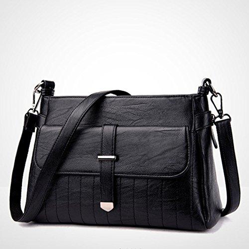 Top Handle Mujer Bolsos Carteras Bolsas De Hombro Bolso Monedero Multicolor Black