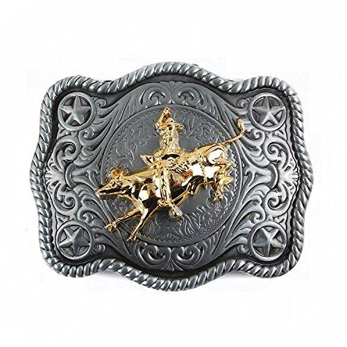 Belt Buckle Bull Rider Bull Skull Western Style Cowboy Rodeo Men Women Hunting Round Art