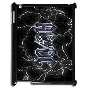 ACDC Pattern Plastic Hard Case for ipad 2 3 4 case APL716218
