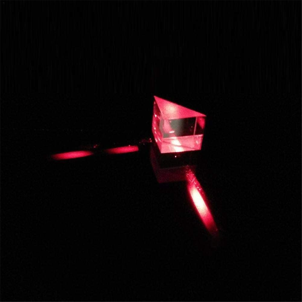 rosemaryrose 10mm 10mm 10mm Optisches Glas Dreieckige Prismen Rechtwinklige gleichschenklige Prismen Linse Optisches K9 Glas Materialpr/üfger/ät