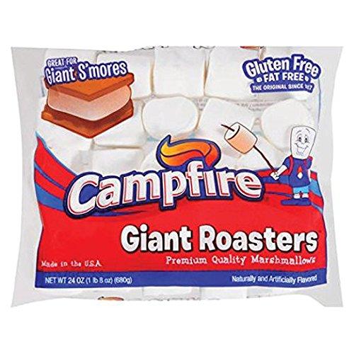 Campfire Giant Roasters Premium Quality Marshmallows, 24 oz