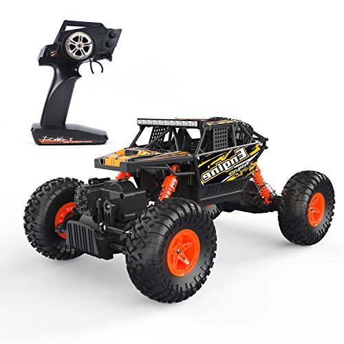 Holyton Remote Control Car 4-Wheel-Drive Off Road Truck 1:18 Scale RTR Crawler Electric Vehicle toy Monster Truck 2.4GHz Radio RC Cars High Speed Racing Jeep for Kids and Adults