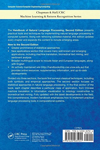 Handbook of Natural Language Processing (Chapman & Hall/CRC:  Machine Learning & Pattern Recognition) by Brand: Chapman and Hall/CRC