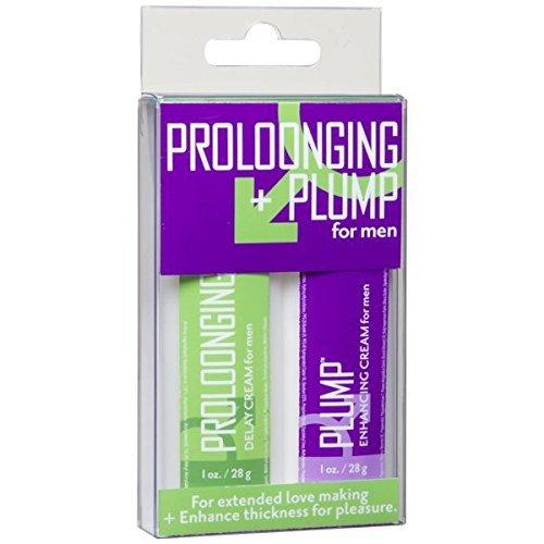 Proloonging Plus Plump for Men, 2 Count Contains 7.5 Percent Benzocaine Desensitizing Agent Delay or Prevent Premature Ejaculation